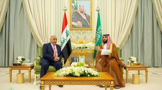 Наследный принц встретился с премьер-министром Ирака и провёл с ним официальные переговоры