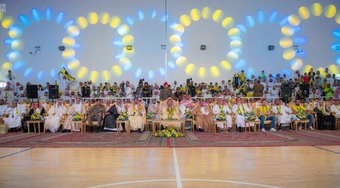 Губернатор провинции Касым посетил торжества в клубе «ат-Таавун» по случаю завоевания Кубка Служителя Двух Святынь