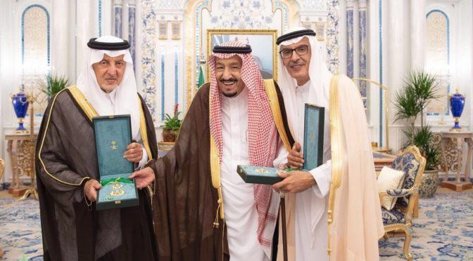 Король наградил Халида Фейсала и Бадра бин Абдулмухсина  орденом им. Короля Абдулазиза