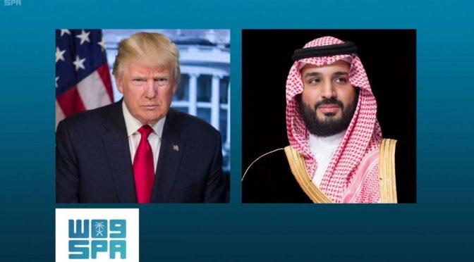 Его Высочество наследный принц совершил телефонный звонок президенту США