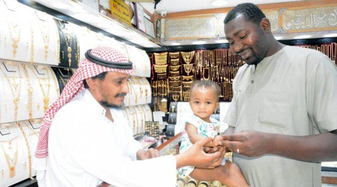 Рынки золота провинции Джазан демонстрируют высокую покупательскую активность в связи с Благословенным праздником Ид аль-Фитр