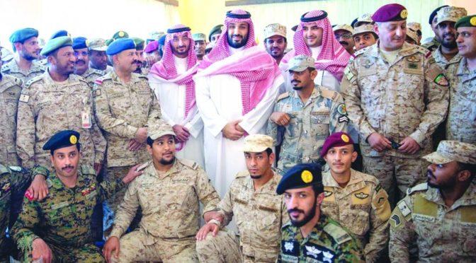 Принц Мухаммад бин Салман посетил сектор Джазана: «Мы горды вышей героической ролью в защите замли отечества и святынь»