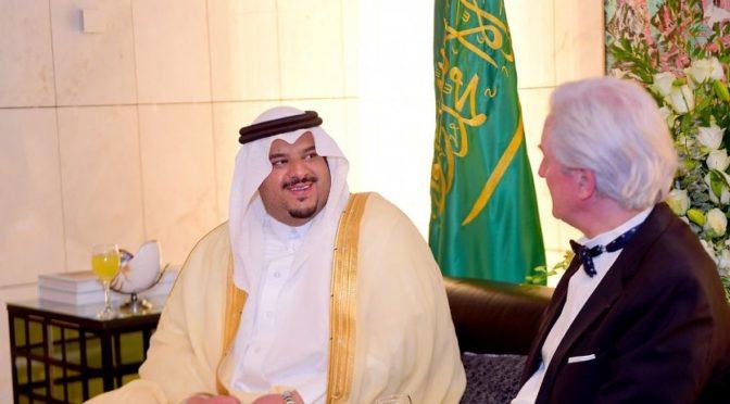 Его Высочество ИО губернатора провинции Эр-Рияд посетил церемонию в посольстве Французской республики в Королевстве