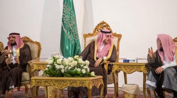 Его Высочество губернатор провинции Джуф принял подданных в округе аль-Карийят