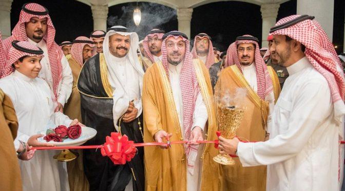 Его Высочество губернатор провинции Касым открыл зал торжеств  административного центра аль-Хилялия и встретился с жителями