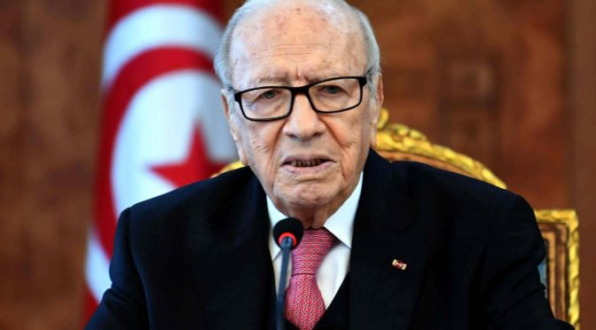 Мансур бин Мутааб и Турки бин Мухаммад бин Фахд прибыли в Тунис для участия в погребении тела президента Сабси