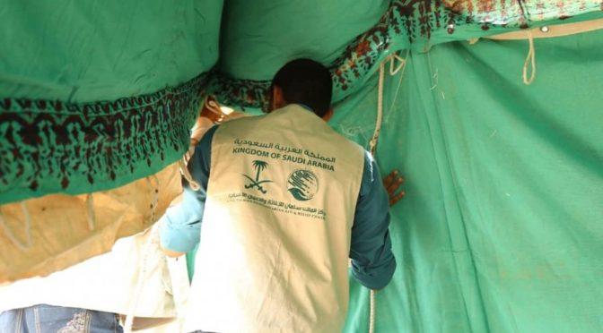 Центр  гуманитарной помощи им.Короля Салмана предоставляет убежище  пострадавшим от наводнений в лагеряж беженцев в провинции Ходейда
