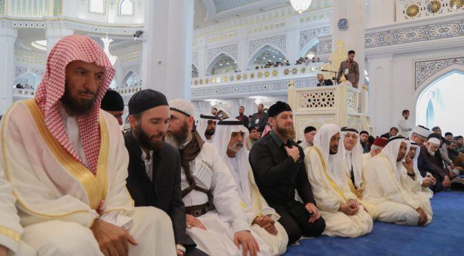 Открылась  крупнейшая мечеть в Европе в Чеченской республике, генеральный  секретарь Исламской лиги произнёс первую пятничную проповедь
