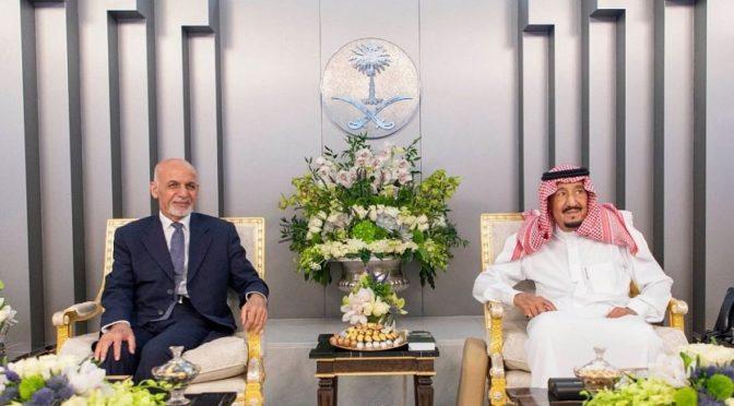 Король принял президента Афганистан и дал торжественный обед в его честь