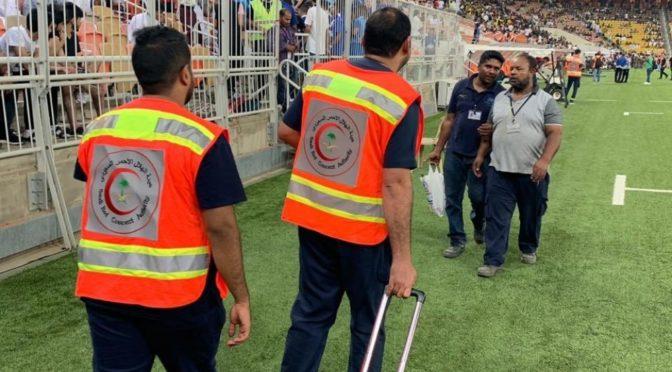 33 случая оказания неотложной помощи во время футбольного  матча между «Итихад» и «Хилял»