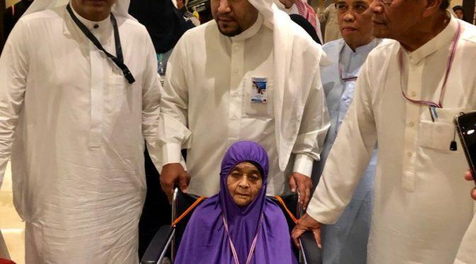 Портал «Сабк» встретился с тайской долгожительницей в возрасте 103 лет, прибывшей в Хадж