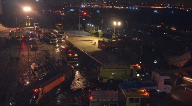 Гражданская оборона сообщает о пожаре на крыше вокзала ж.д. Двух Святынь в г.Джидда
