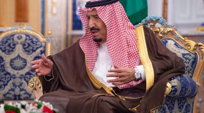 Служитель Двух Святынь принял семью покойного аль-Фагама