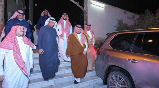 Его Высочество заместитель губернатора провинции Джуф посетил нескольких жителей провинции
