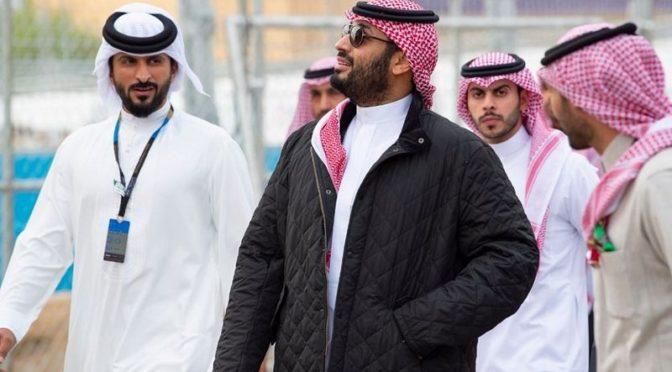 Наследный принц посетил открытие гонок «ABB Formula E» среди электромобилей в Дириаъ