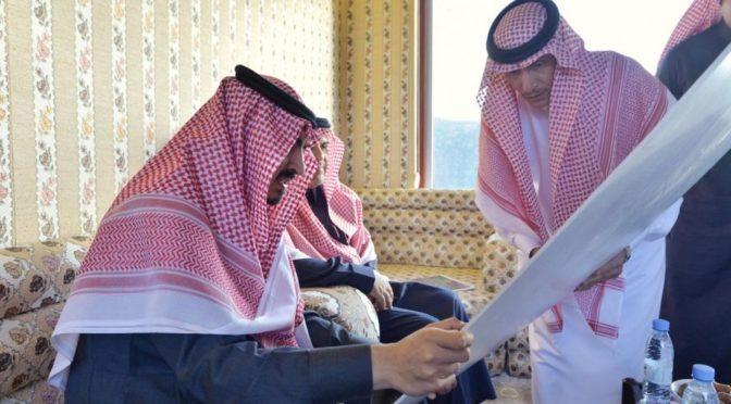 Принц Бадр бин Султан осмотрел с воздуха туристические объекты аль-Хада, аш-Шафа и аш-Шарита