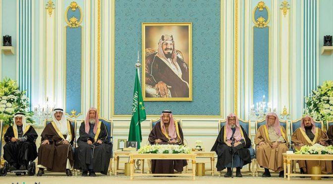 Король принял принцев, муфтия, учёных и группу подданных