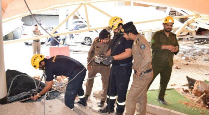 Гражданская оборона: 2 человека погибли и 13 получили ранения в проишествии в здании Университета аль-Маарифа