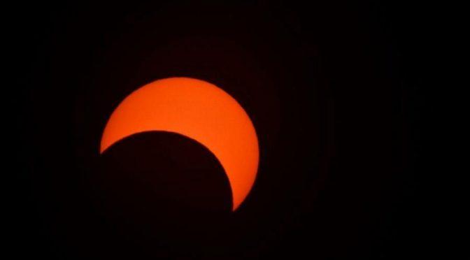 В Королевстве произошло редкое астрономическое явление – кольцевое солнечное затмение