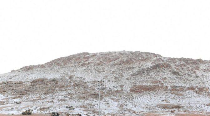 Снег второй раз за этот год накрыл Миндалевую гору