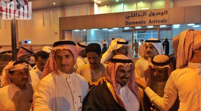 Приём Наифа аль-Курди в Джазане. Его первые слова:Хвала Аллаху, я вас нашёл!