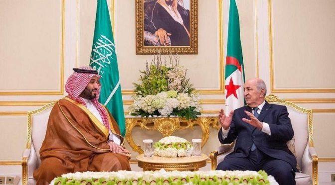 Его Высочество наследный принц КСА провел встречу с президентом Алжира