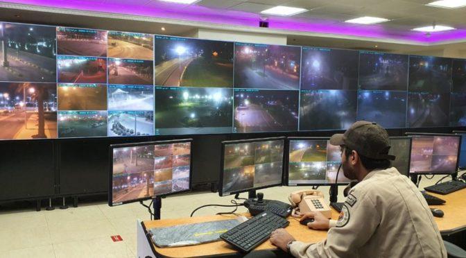 Патрули  сил промышленной безопасности Королевской комиссии в Джубайле  поддерживают силы безопасности во время комендантского часа