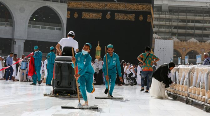 Дезинфекция помещений и площадей Запретной Мечети