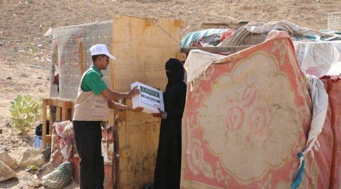 ЦСГД им. короля Салмана распределил 5500 коробок с финиками в йеменской провинции Хадрамаут