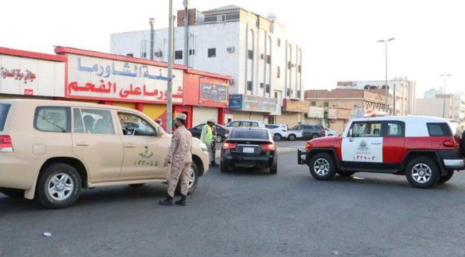 Национальная гвардия поддерживает соблюдение комендантского часа в Джидде