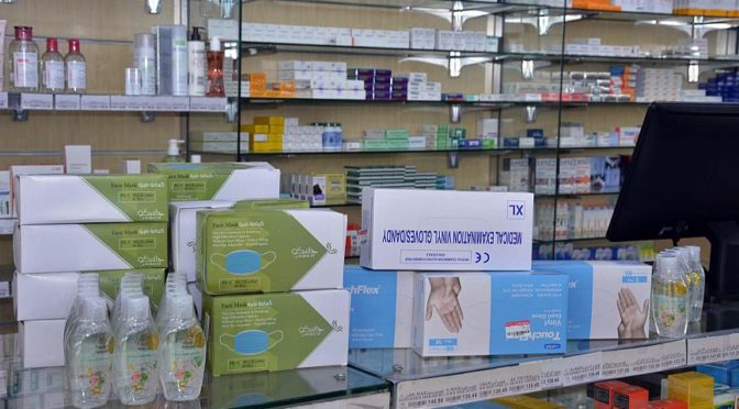 Наличие  лекарств и необходимых медицинских принадлежностей в аптеках Медины