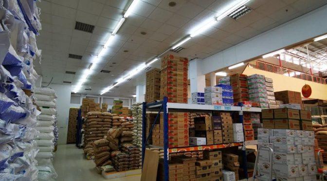 Фотокорреспондент «ВАС» зафиксировал на складох и в оптовых магазинах Наджрана изобилие запасов продовольствия
