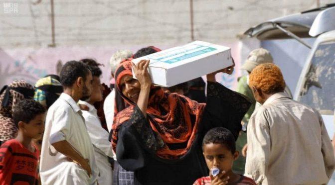 ЦСГД им.короля Салмана распределил 1200 продовольственных корзин в провинции Саада