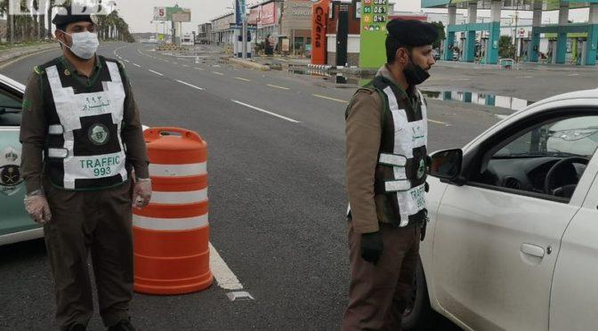 «Сабк» запечатлел полевую работу дорожной полиции в Абхе в ночь на Ид аль-Фитр по поддержанию комендантского часа