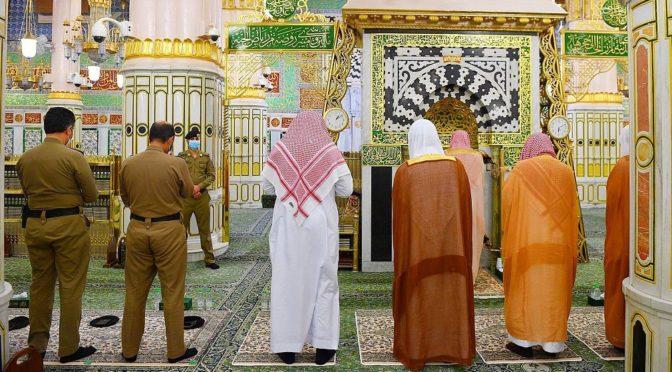 Совершена первая ночная молитва в последнюю декаду Благословенного Рамадана в Мечети Пророка
