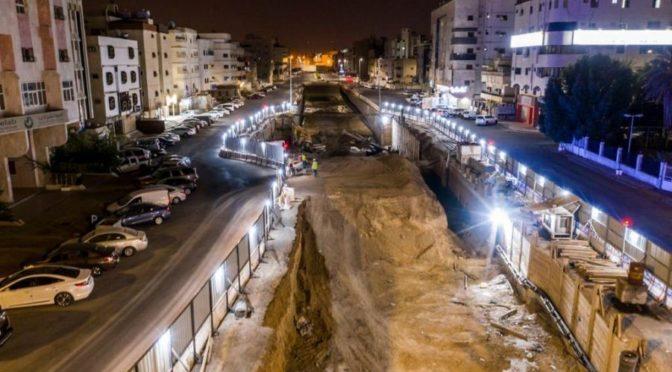 Продолжается реализация проекта строительства тоннеля на пересечении шоссе принца Абдулмаджида бин Абдулазиза и шоссе Султана в Лучезарной Медине