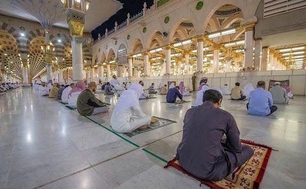 Разрешение на посещение коллективных молитв в Мечети Пророка