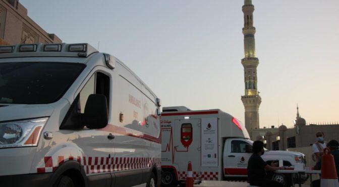 Стартовала компания донорства крови рядом с Мечетью Пророка