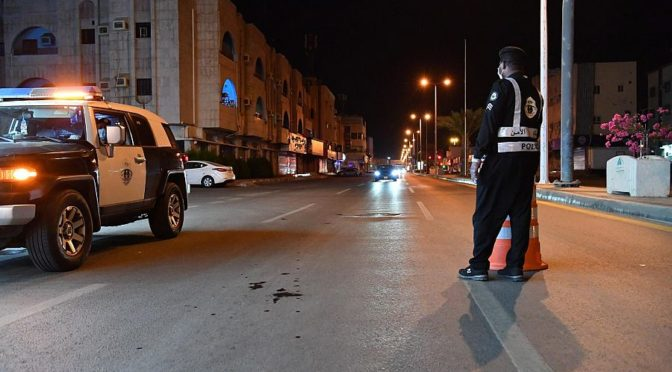 """""""ВАС"""" запечатлел усилия сил безопасности в г.Джизан во время комендантского часа"""