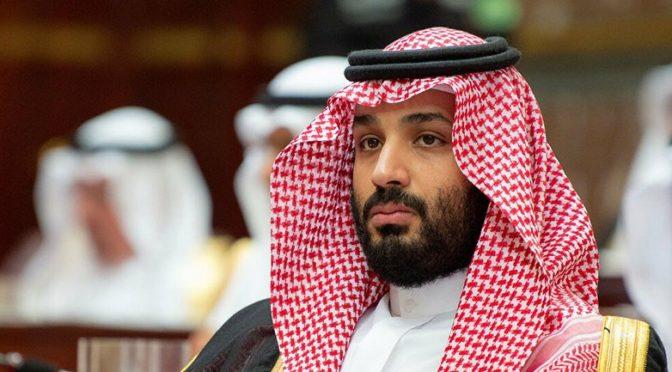Его Высочество наследный принц принял телефонный звонок от президента США