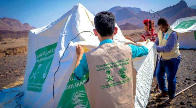 Центр им.Короля Салмана распределяет временные укрытия для пострадавших от наводнения в провинции Ходрамоут