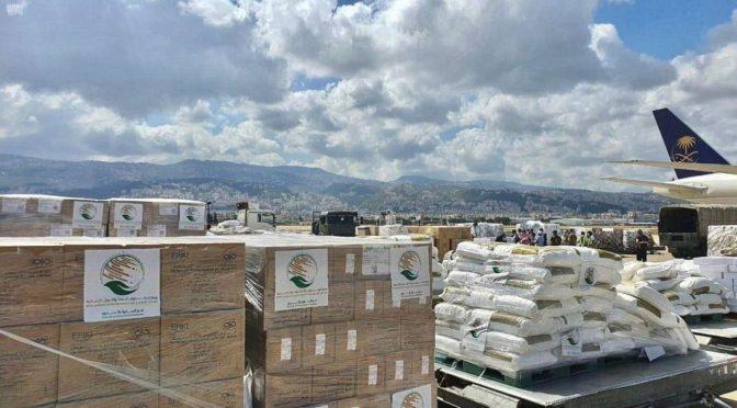 Прибытие в Ливан четвертого саудовского самолета для оказания помощи пострадавшим от взрыва в бейрутском порту