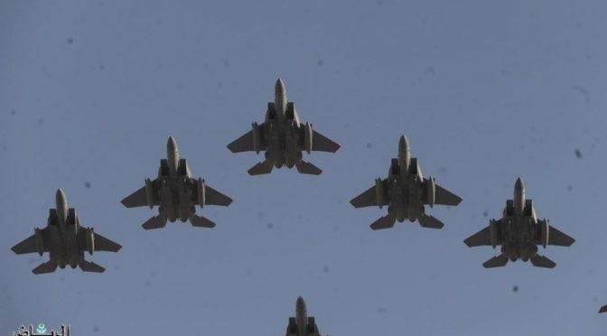 Воздушный парад украсил небо над Эр-Риядом