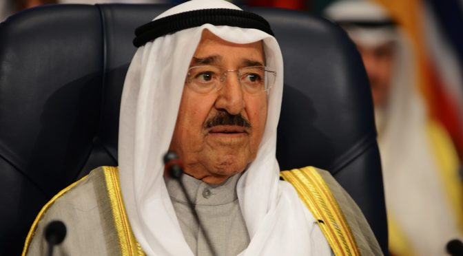 Служитель Двух Святынь совершил похоронную молитву гаиб по шейху Сабаху Ахмаду аль-Джабиру ас-Сабаху