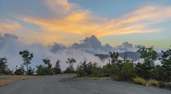 Облака, покрытые туманом
