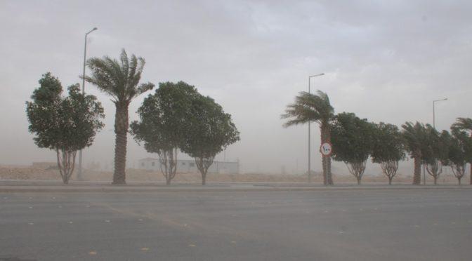 Эр-Рияд: дожди и пыльная буря