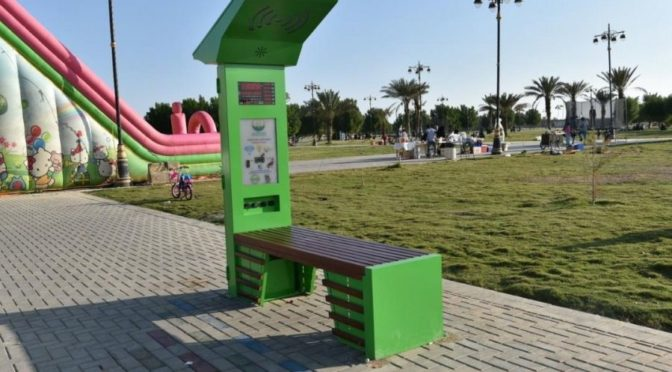 """Муниципалитет Табука начинает установку """"умных лавочек"""" в парках и общественных местах"""