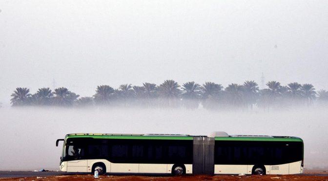 Небо Эр-Рияда: облака и туман