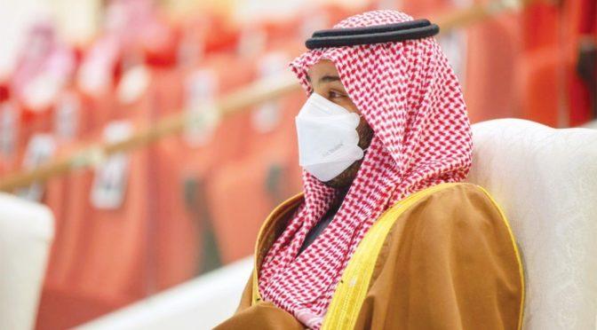 """По поручению Служителя Двух Святынь наследный принц посетил  скачки Чемпионата """"Кубок Саудии"""""""