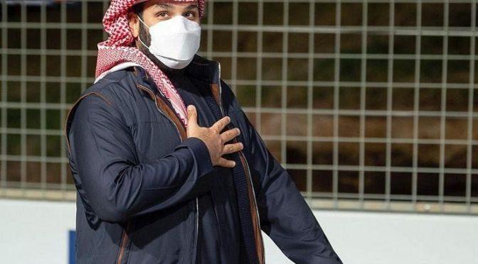 Его Высочество наследный принц присутствовал на этапе гонки Formula E Diriyah
